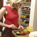 Woman preparing lunch