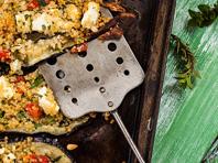 Aubergine, quinoa, feta and fresh herbs