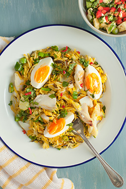 Kedgeree with turmeric and coriander