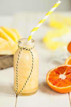 Pineapple, banana and orange smoothie