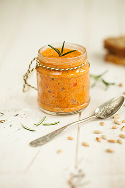 Roasted red pepper, rosemary and sunflower seed pâté