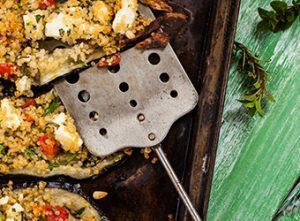 UK National Vegetarian Week - Aubergine, quinoa, feta & fresh herbs from Love Your Gut