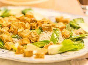 UK National Vegetarian Week - Oriental tofu rice noodles from Love Your Gut