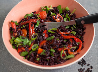 Fast Black Rice Salad