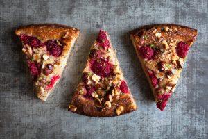 Gluten free raspberry & lime yogurt cake