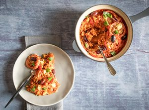 UK National Vegetarian Week - One Pot Pasta & Pearl Barley Bake from Love Your Gut