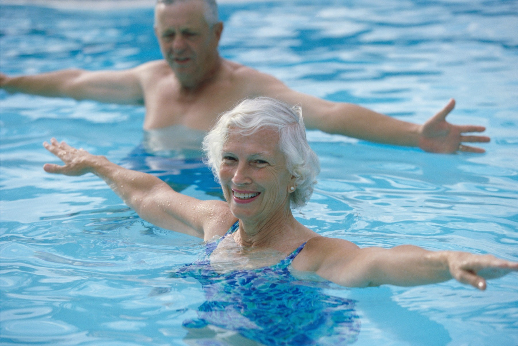 Swimming at old age